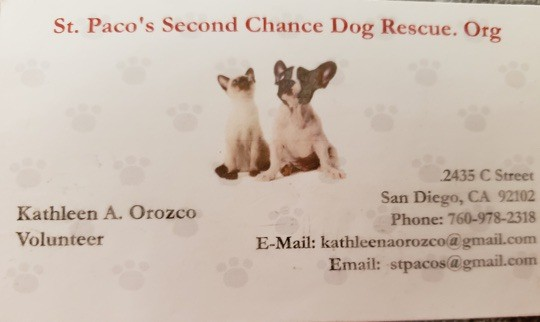 St. Paco's Second Chance Dog Rescue